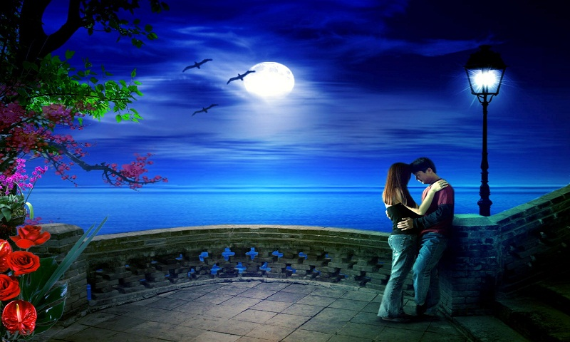 Love Couple With Moon Hd Wallpaper For Mobile: Magical Love Moonstruck – Kelley