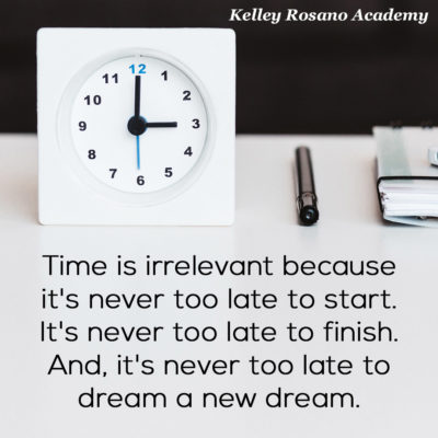 Time is irrelevant because it is never too late.