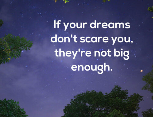 if your dreams don't scare you, they're not big enough
